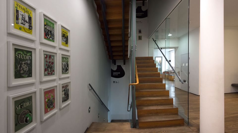 Installation view of Neil Gall: The Studio: Cover Versions 4