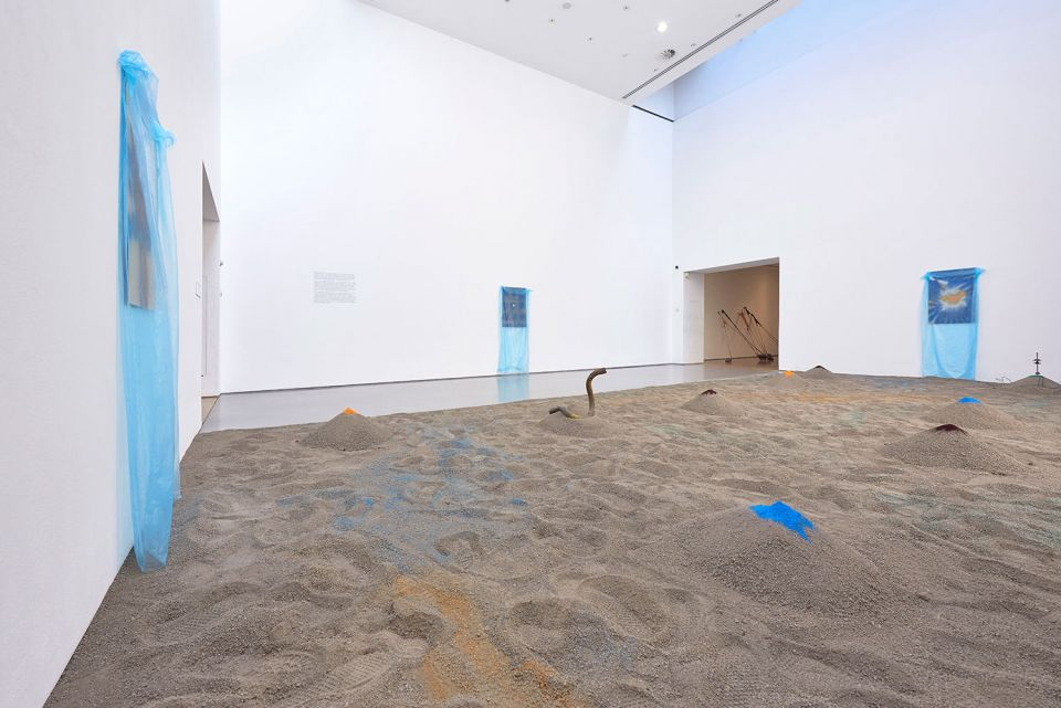 Installation view of Senga Nengudi 7