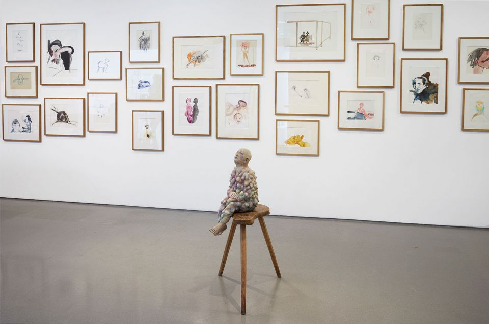 Installation shot of Paloma Varga Weisz: Bumped Body on display at the Henry Moore Institute in 2020