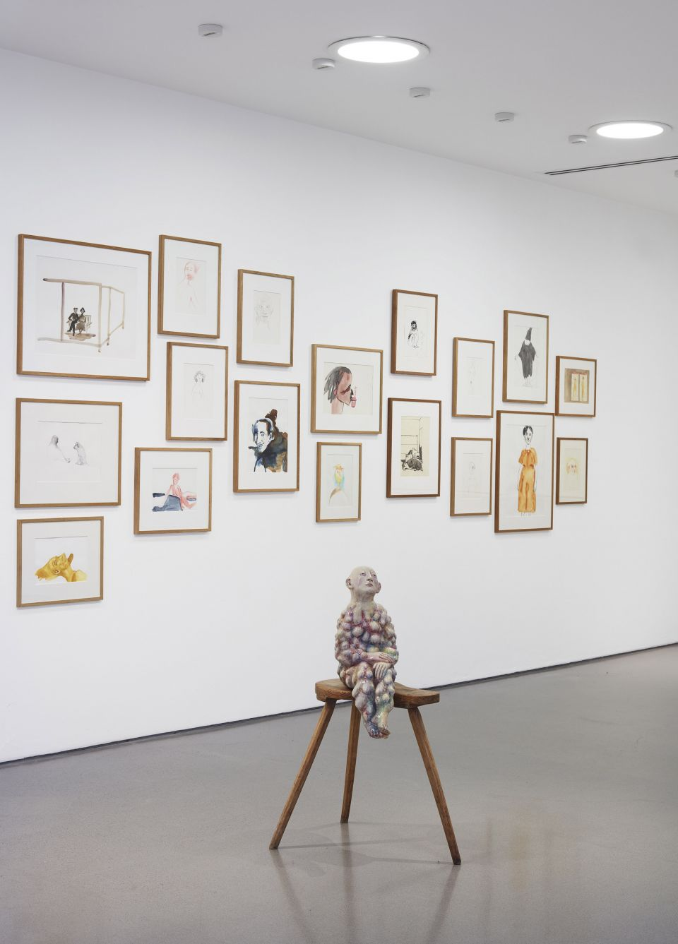 Installation shot of Paloma Varga Weisz: Bumped Body on display at Henry Moore Institute 13 March - 28 June 2020