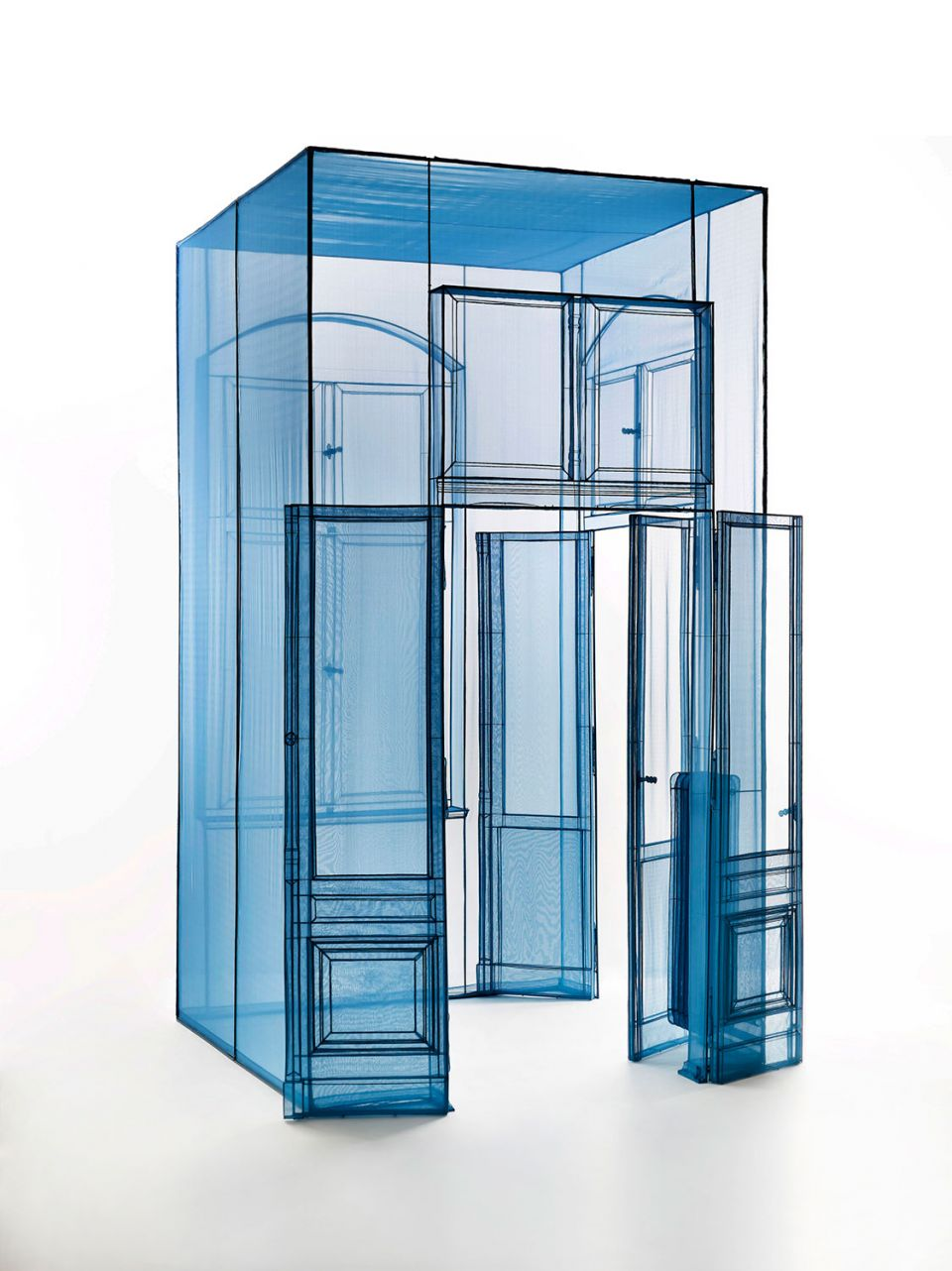 Do Ho Suh, Hub, Wielandstr. 18, 12159 Berlin, 2015, polyester fabric, stainless steel