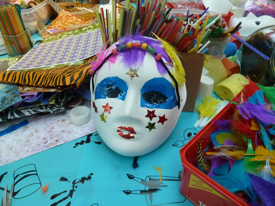 Mask and materials from Faces & Mask workshop on August 9.