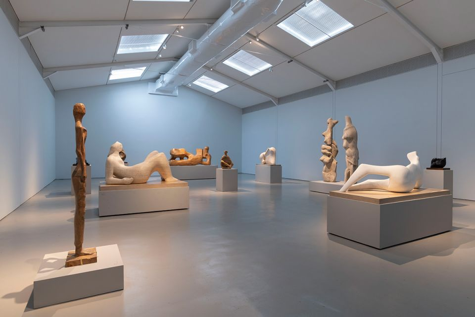 Late Carvings gallery in 'Out of the Block: Henry Moore Carvings'