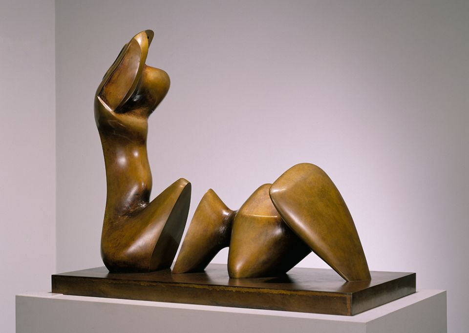 Henry Moore, 'Working Model for Two Piece Reclining Figure: Cut' 1978-79