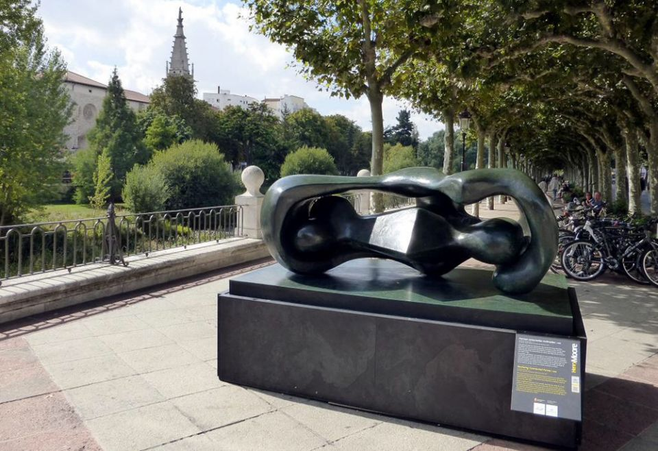 <i>Reclining Connected Forms</i> at Burgos in 2015