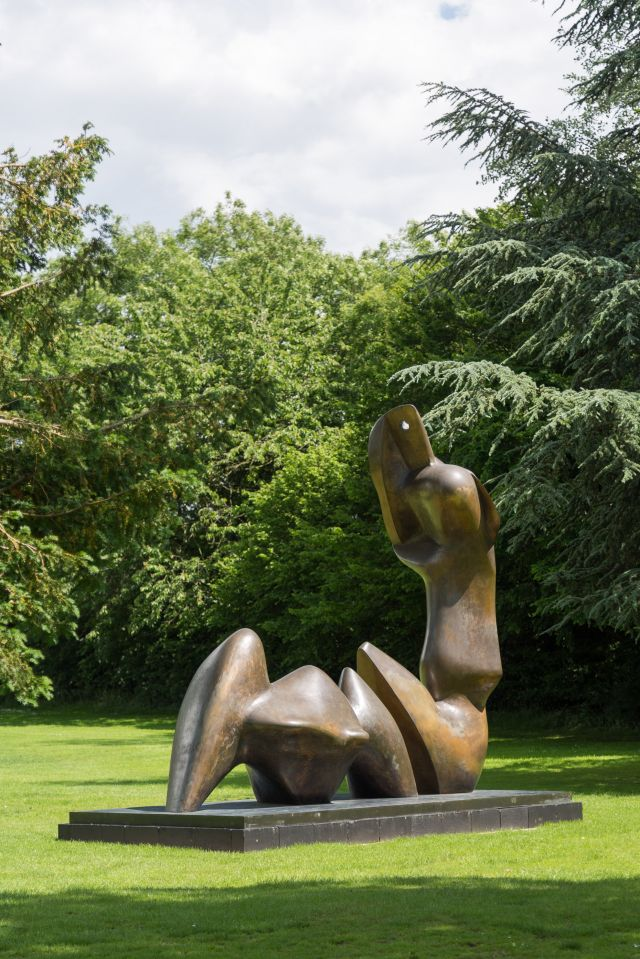 Two Piece Reclining Figure: Cut