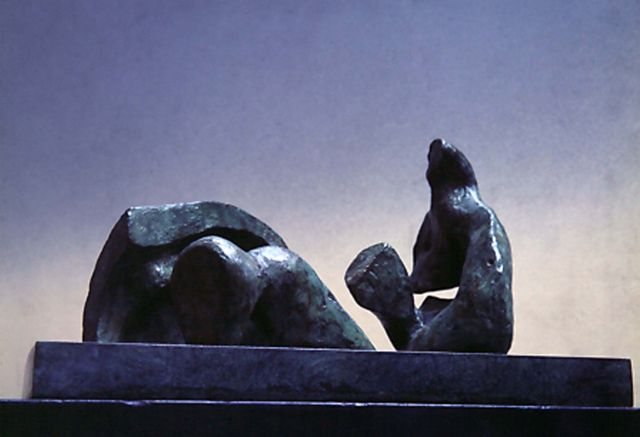 Maquette for Three Piece Reclining Figure: Draped