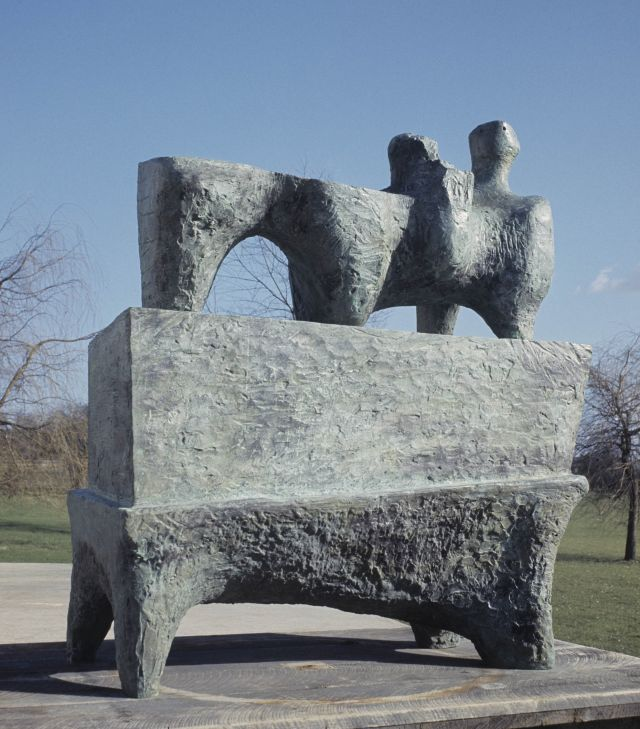 Reclining Figure on Pedestal